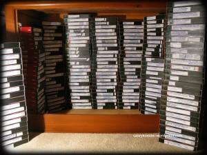 des tonnes de cassettes vhs